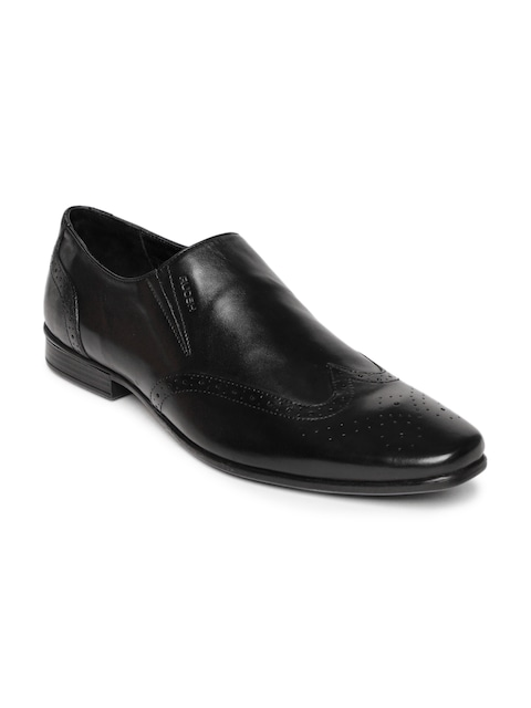 Celebrate 5 Years Of Unparalleled Craftsmanship By Myntra | Ruosh Work Men Black Contemporary Slip-On Shoes @ Rs.1595