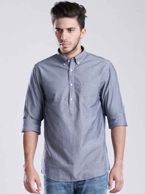 Tommy Hilfiger Grey New York Fit Casual Tunic Shirt low price