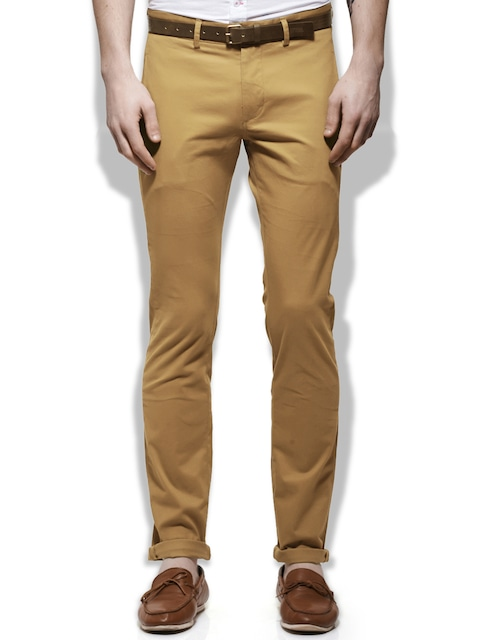 Upto 50% Off On United Colors of Benetton Products By Myntra | United Colors of Benetton Men Dark Khaki Slim Fit Trousers @ Rs.1,799