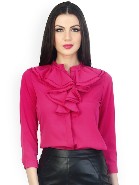 Buy FabAlley Pink Shirt - Shirts for Women | Myntra