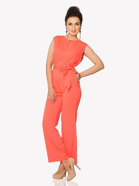 Buy Miss Chase Women Neon Orange Jumpsuit - Jumpsuit for Women ...