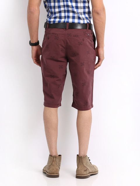 Buy U.S. Polo Assn. Men Maroon Printed Relaxed Fit Shorts - Shorts ...