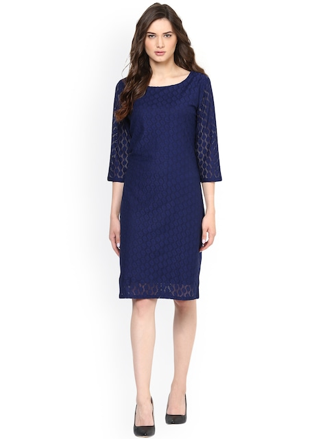 Collection Navy Lace Sheath Dress Pictures - Reikian