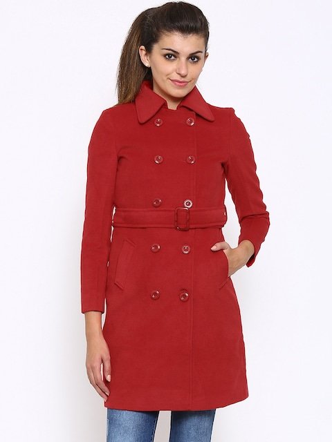 Buy Annabelle By Pantaloons Red Coat - Coats for Women | Myntra