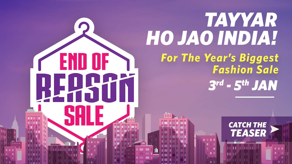 Myntra: End Of Reason Sale – 3rd to 5th January, 2017