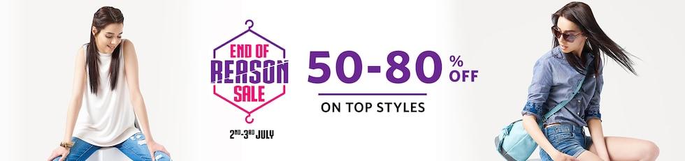 HRX Clothing Footwear Fashion Sale - Flat 50% Discount at Myntra