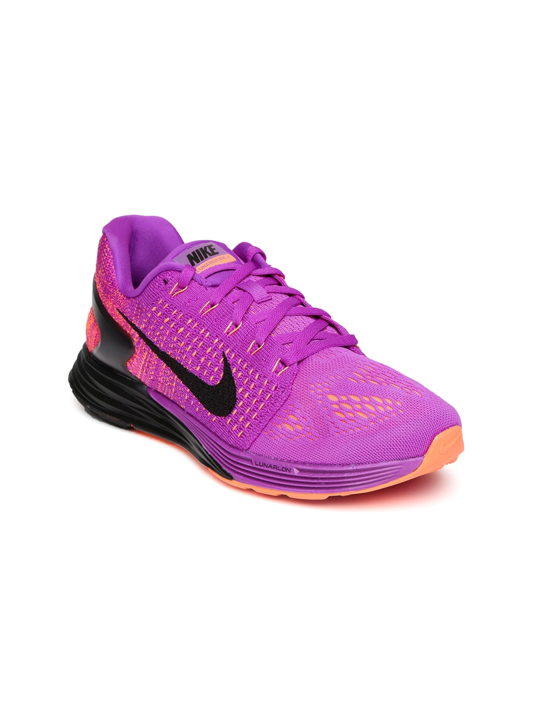86f937aba952 Nike 747356-501 Women Purple And Orange Lunarglide 7 Running Shoes- Price  in India