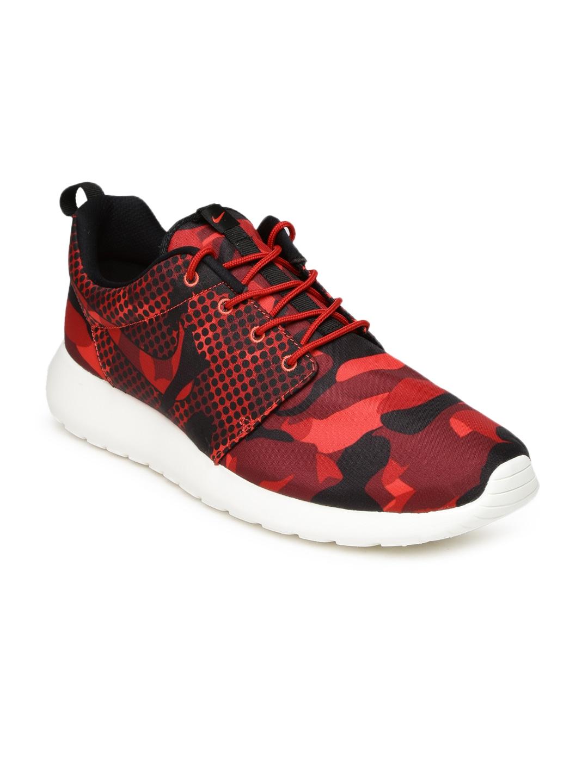 30ff45682c07 Nike 655206-606 Men Red Roshe One Printed Sneakers - Best Price ...