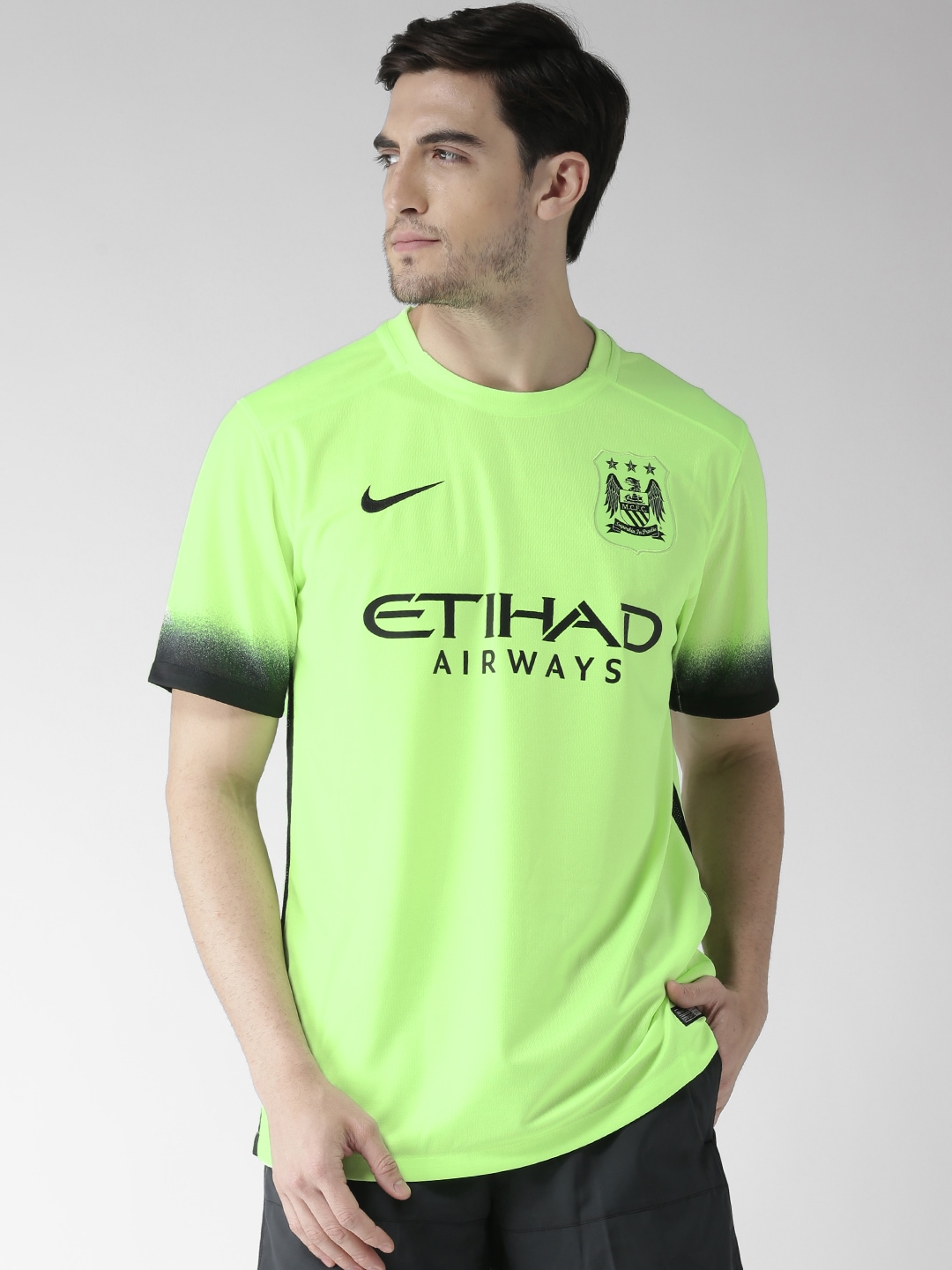 4afe80015521df Nike 658882-368 Neon Green Mcfc T Shirt - Best Price in India ...