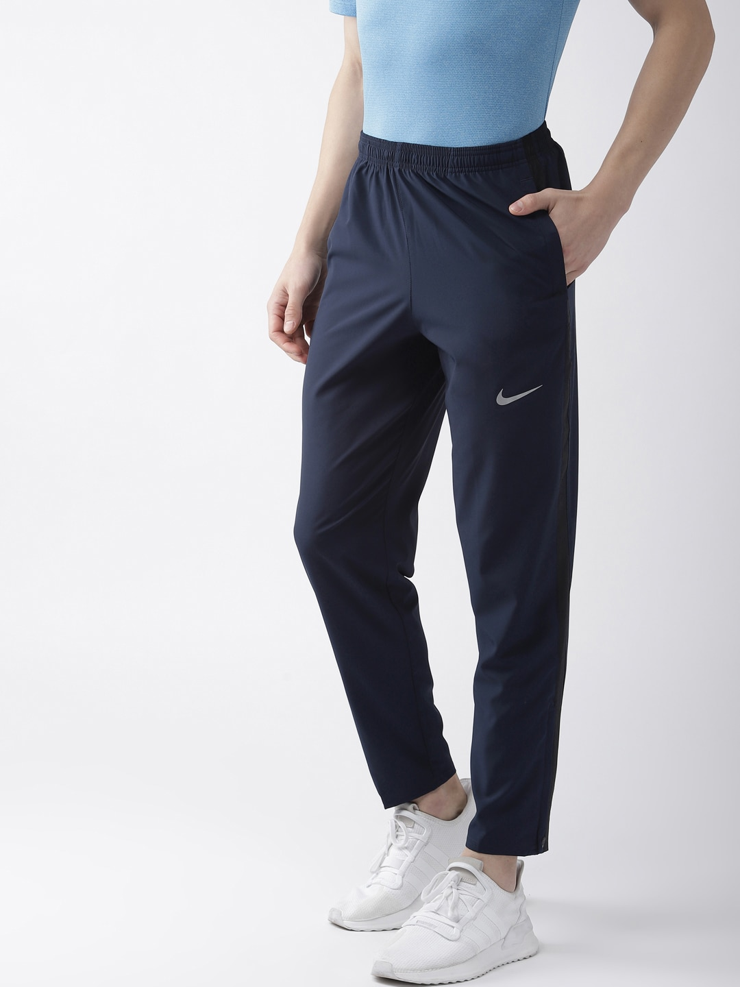 cd1c5a87e69ae Nike As Dri Fit Otc65 Navy Blue Running Track Pants for men price - Best buy  price in India July 2019 detail & trends | PriceHunt