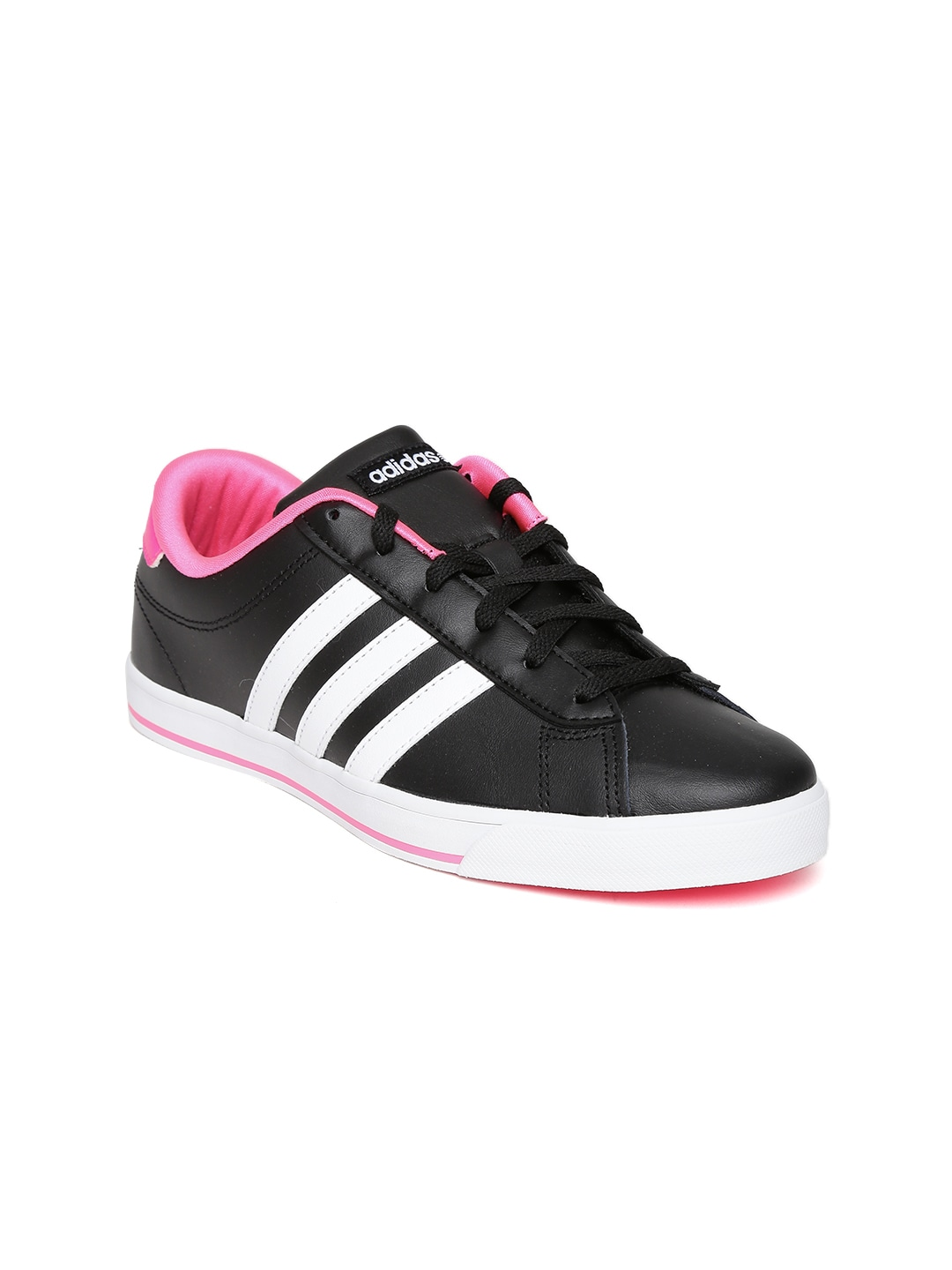 quality design ab3fb e3195 ... neo women black daily qt w sneakers price in india bd84c 29121 best  price adidas se daily qt w black purple triple stripes casual shoes neo  2012 g52003 ...