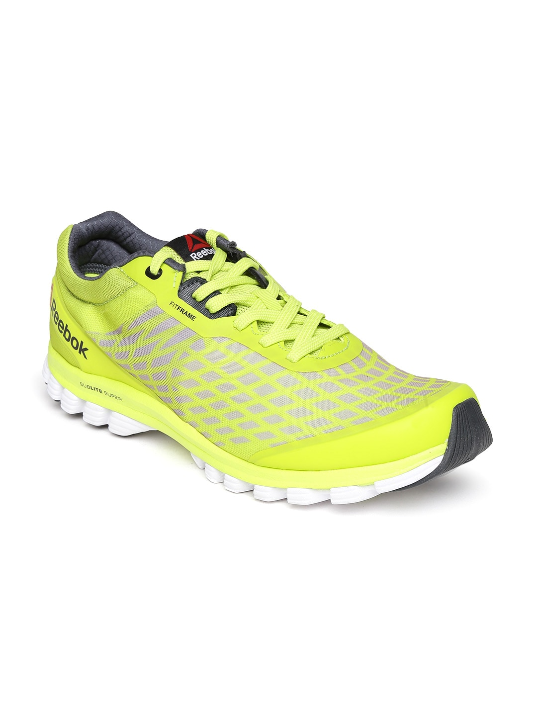 b8812aebf7b706 Reebok v66151 Men Lime Green Sublite Super Duo Running Shoes- Price in India