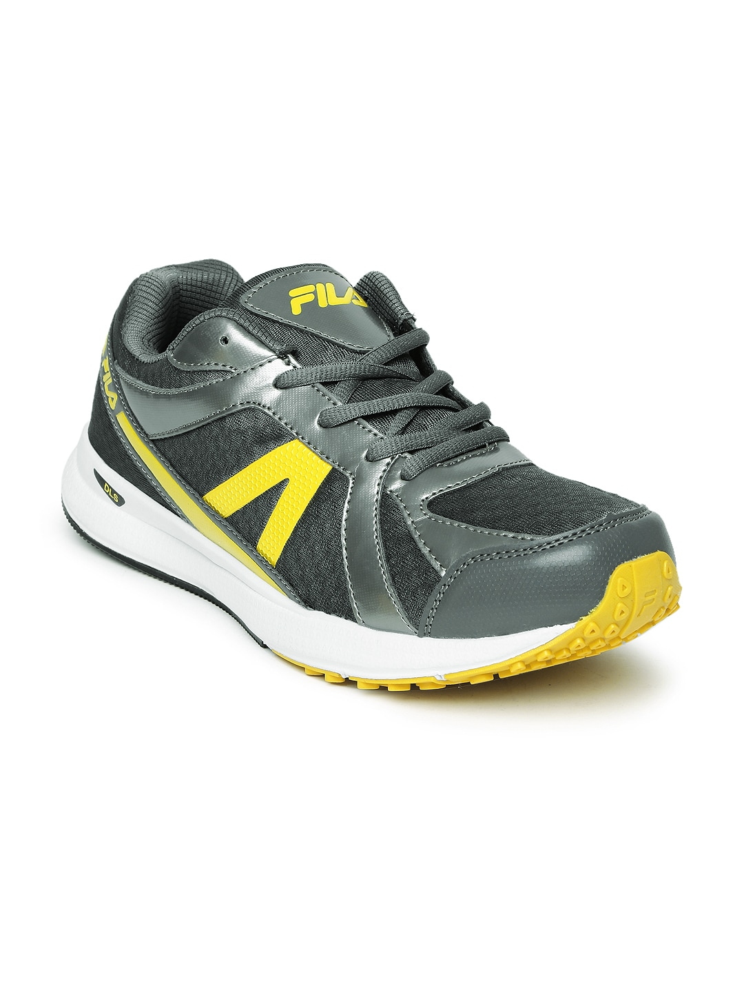 b2b8efc03d0c Fila 11003223 Men Grey And Yellow Element Ii Sports Shoes- Price in India