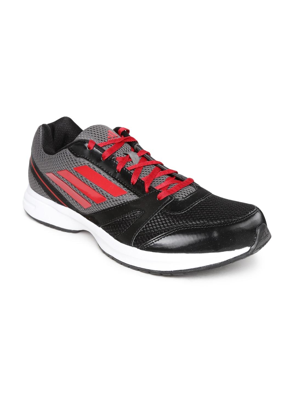 Adidas s50322 uomini neri e grigi hachi 10 scarpe da corsa migliore prezzo
