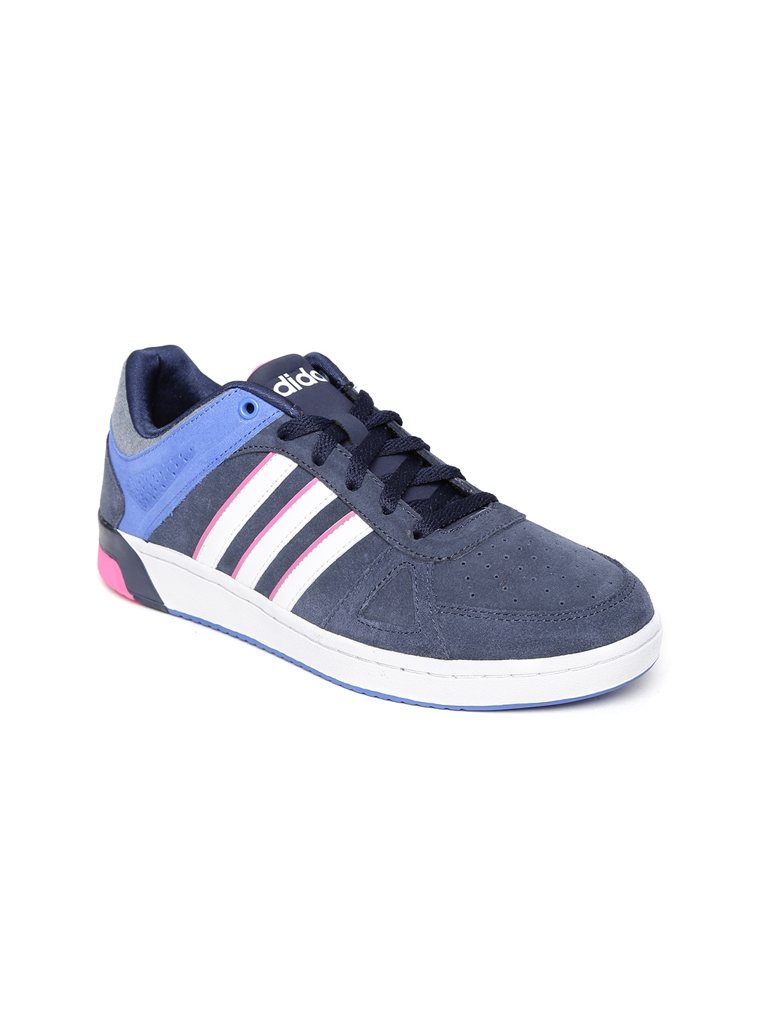 215481059e8 Adidas neo f99483 Women Navy Hoops Team Suede Sneakers- Price in India