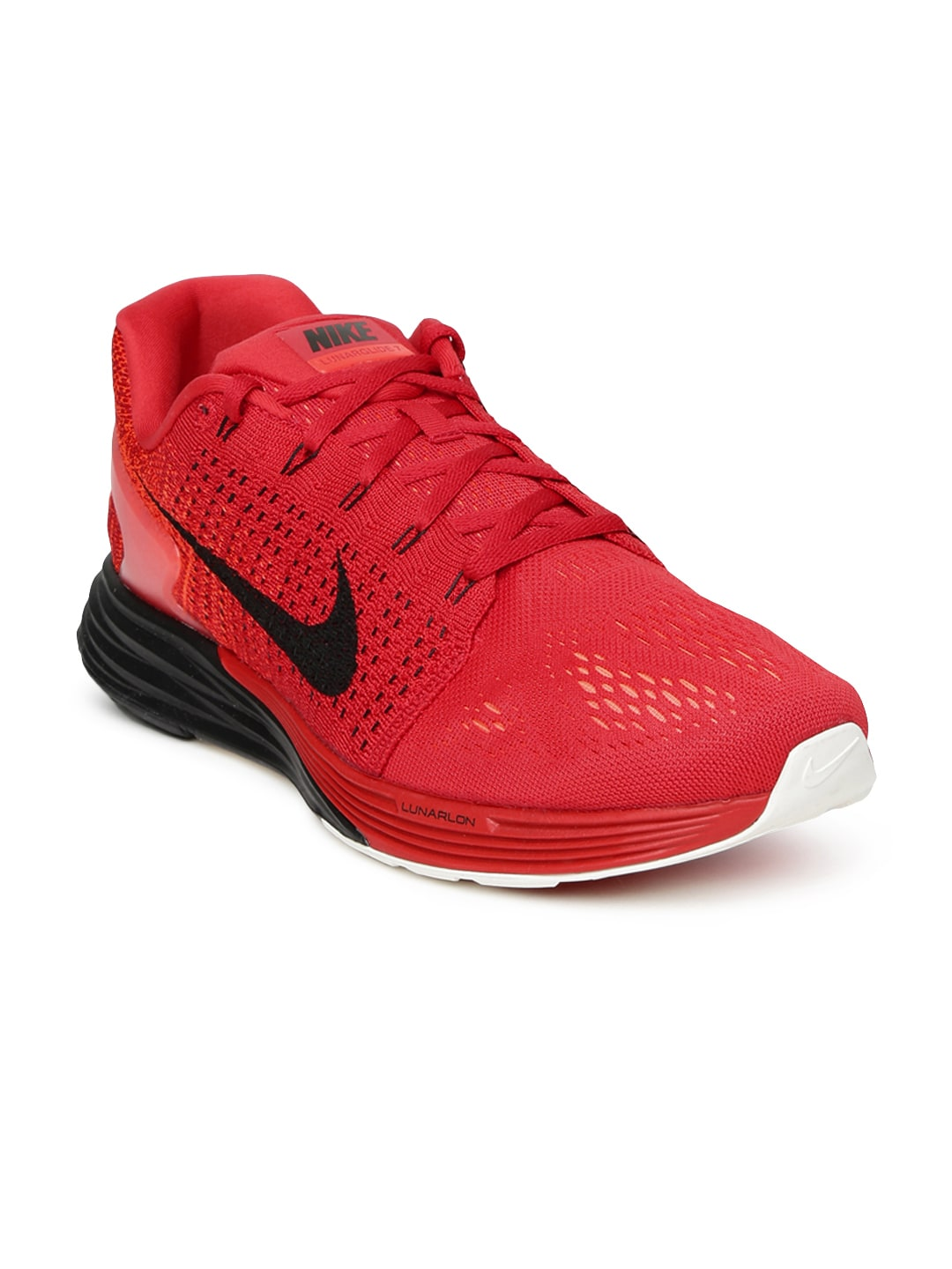 pretty nice 79f55 a0b4c Nike 747355-601 Men Red Lunarglide 7 Running Shoes- Price in India