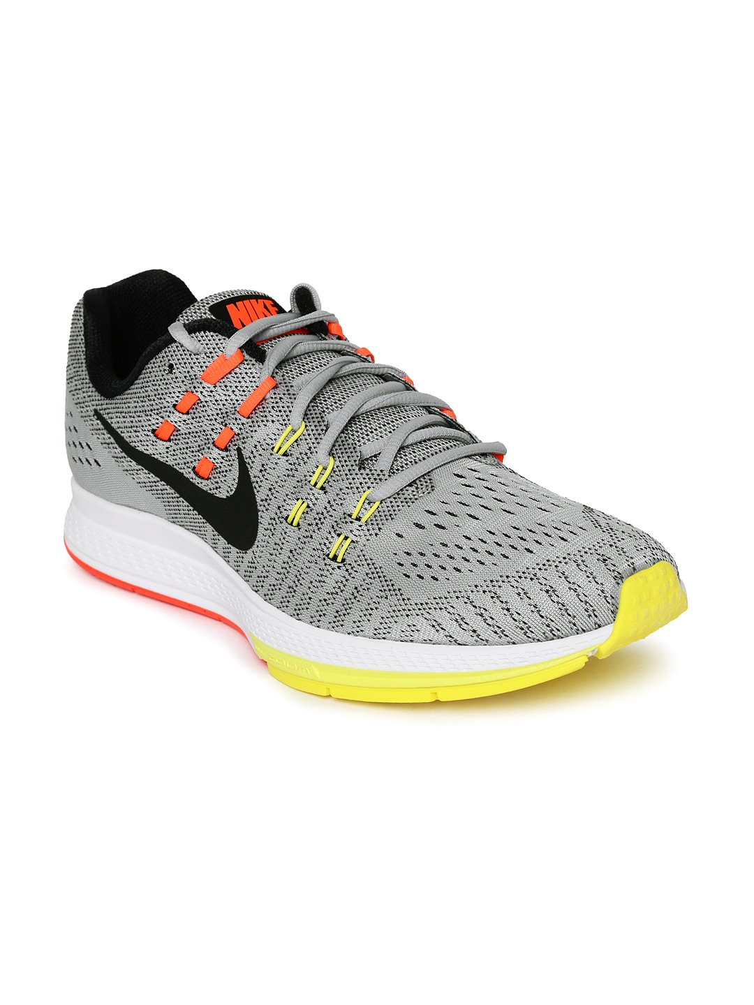 the best attitude ef34e fb05b Nike 806580-007 Men Grey And Orange Air Zoom Structure 19 Running Shoes-  Price in India