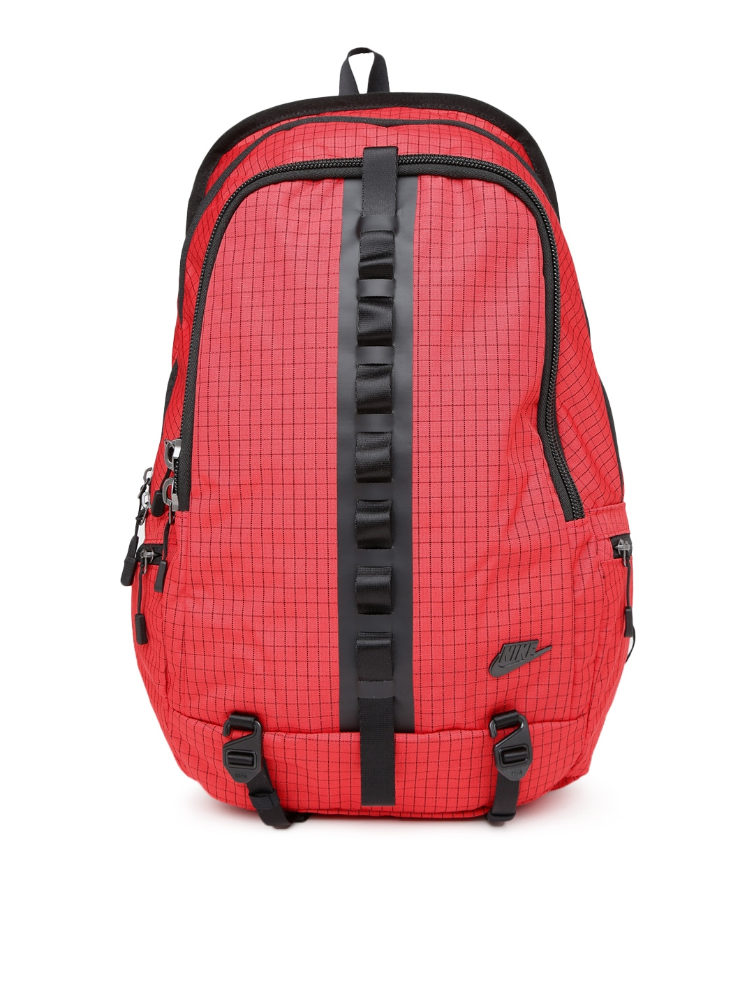 be3091d58c77 Nike ba5073-657 Women Red Karst Cascade Checked Backpack- Price in India