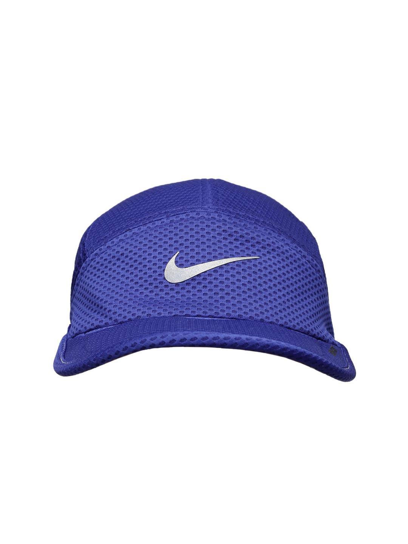 Nike 520787-455 Unisex Blue Mesh Running Cap - Best Price in India ... e88124d0b955