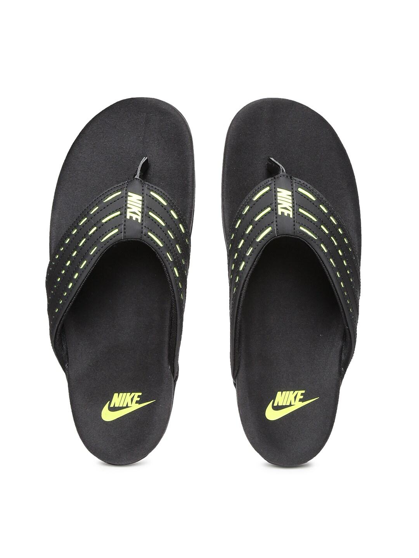 b2aa1ed32 Nike 749160-001 Men Black And Green Keeso Thong Flip Flops- Price in India