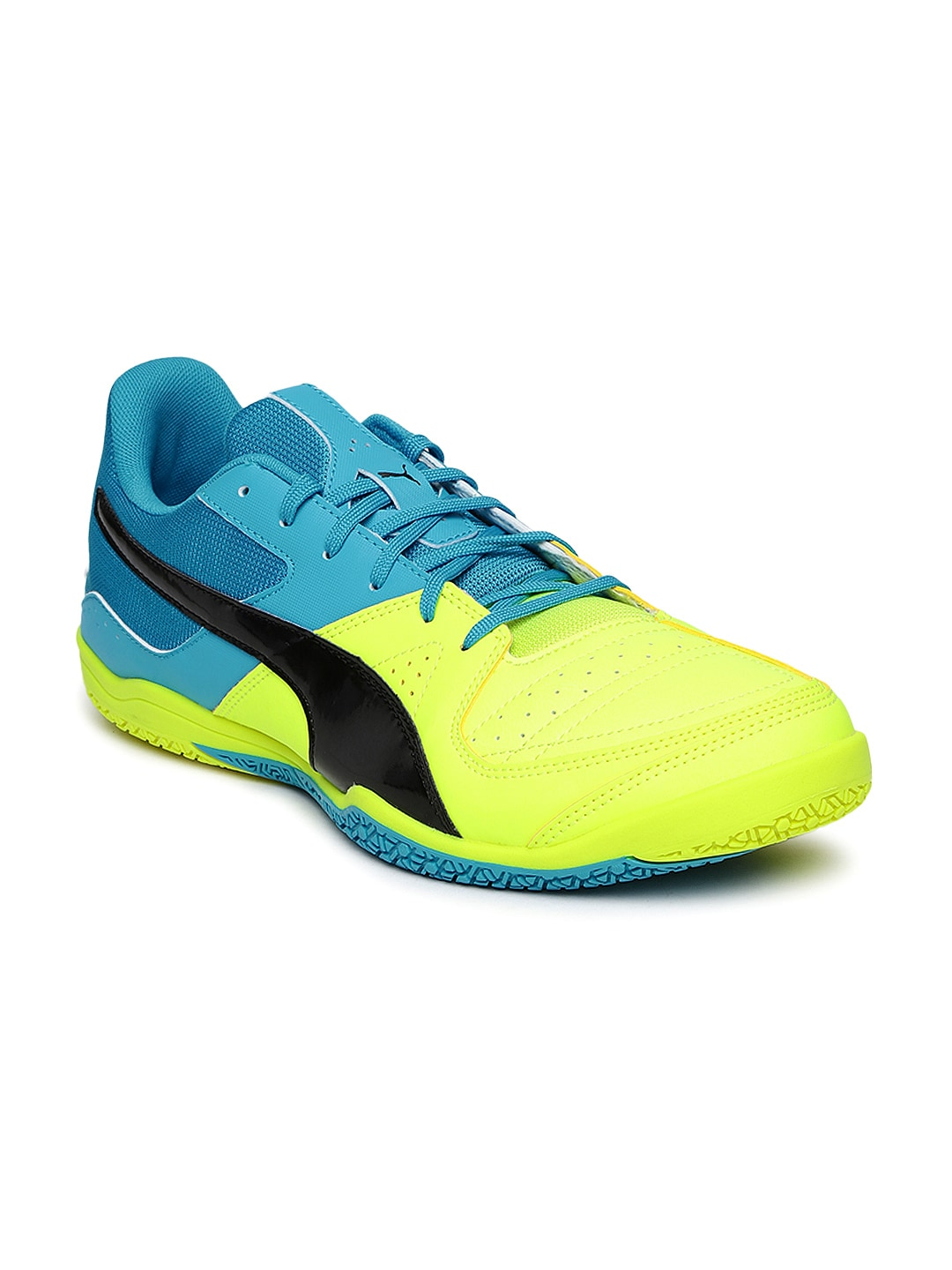 Puma 10344407 Men Neon Green And Blue Gavetto Sala Indoor Football Shoes-  Price in India 4d3fc78b1