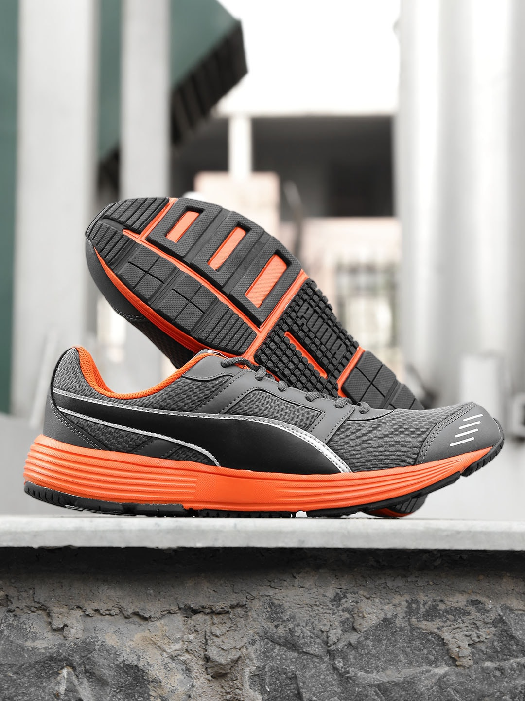 Puma 18936603 Men Grey Harbour Fashion Dp Running Shoes- Price in India 37d7b92db