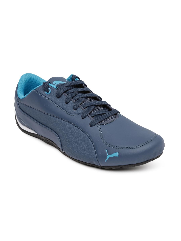 Puma 30570102 Men Navy Drift Cat 5 Lea Training Shoes - Best Price ... 3a003ee8f