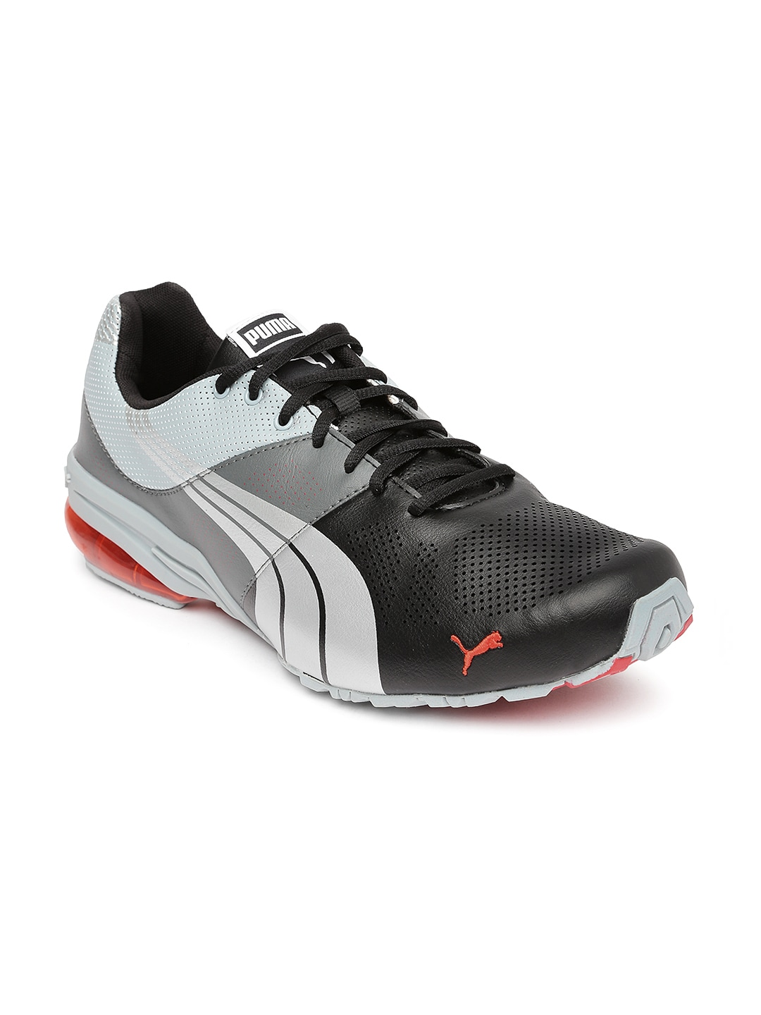 25c7f8e7eff9 Puma 18791608 Men Black And Grey Cell Hiro Dp Running Shoes- Price in India