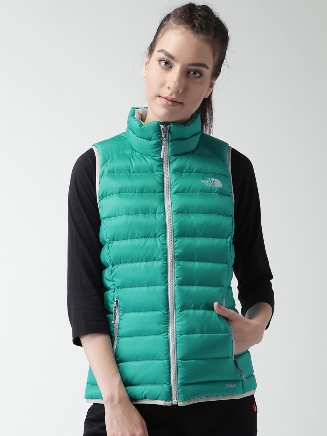 1b05d244fe The north face cub8ey3 Green Manchuria Ap Sleeveless Padded Outdoor Jacket-  Price in India