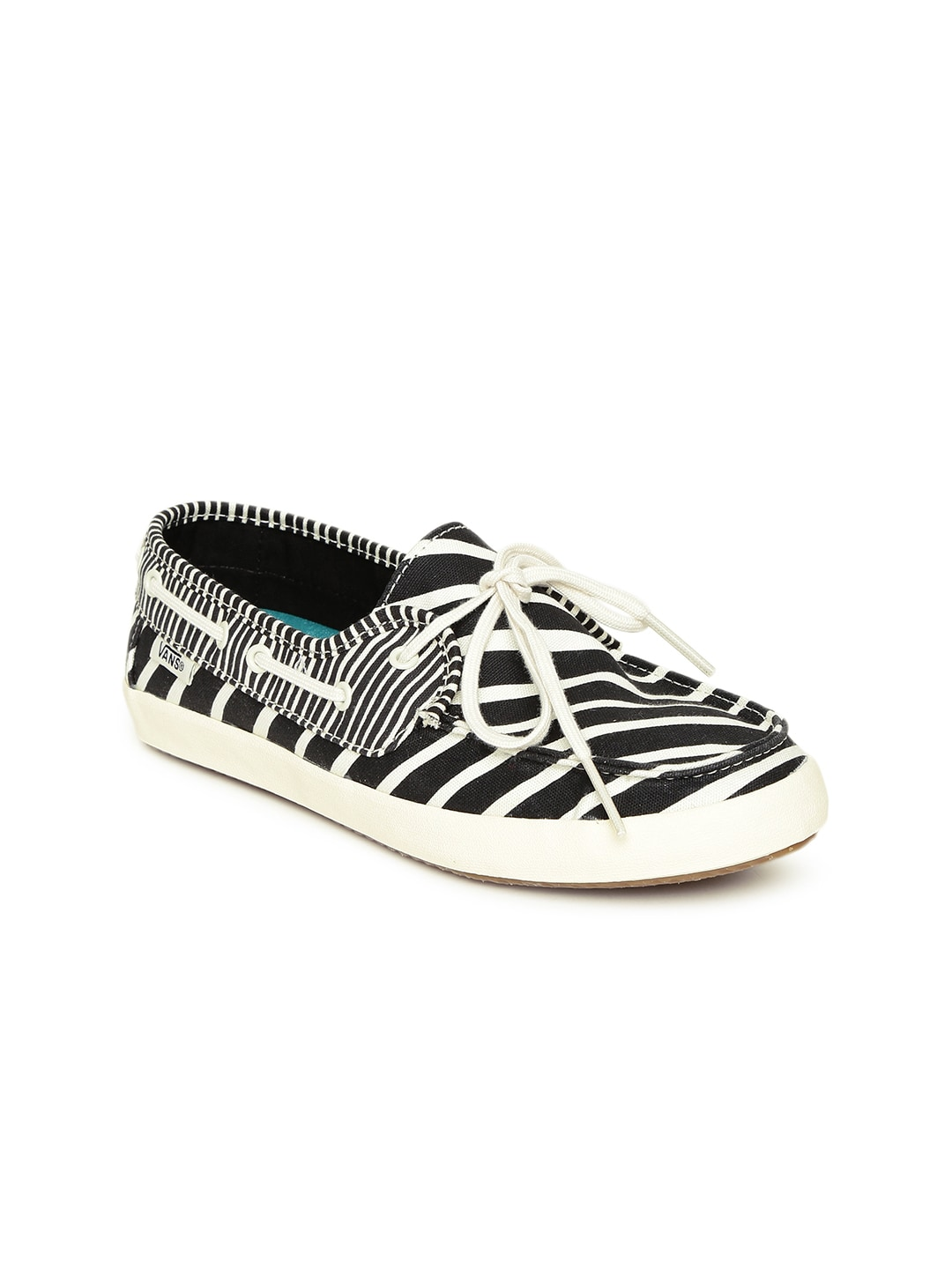 ee31d65c0529 Vans vn-0se9gji Women Black And White Zebra Print Chauffette Boat Shoes-  Price in India