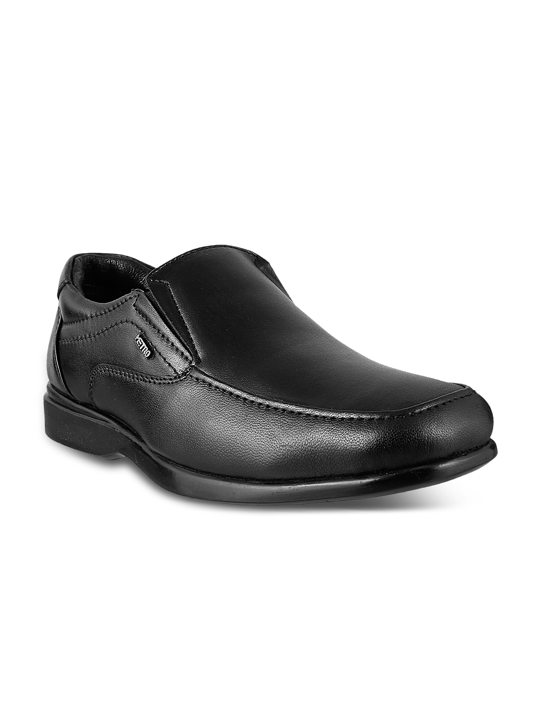 114f86a4b84e8d Metro 19-2540-11-44-black Men Black Leather Formal Shoes- Price in India