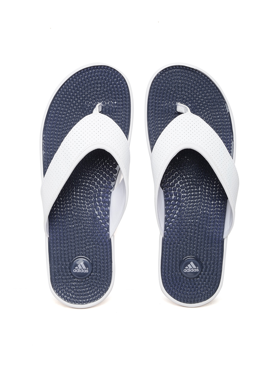 825cbdc8cb9f8 Adidas s78008 Men White And Navy Adissage Thong Gr Flip Flops- Price in  India