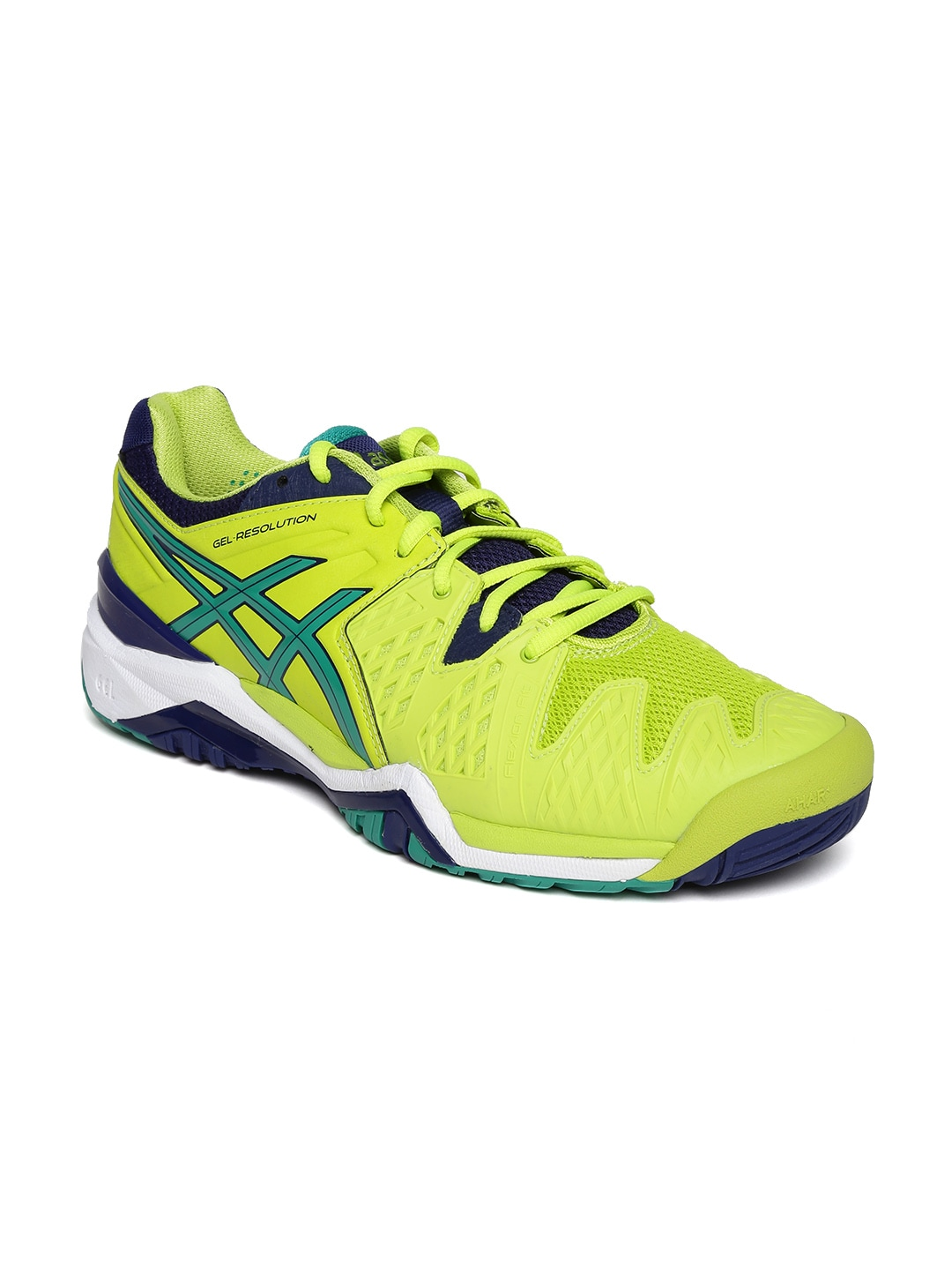 8076e2b13 Asics e500y-0588 Men Lime Green Gel Resolution 6 Tennis Shoes- Price in  India
