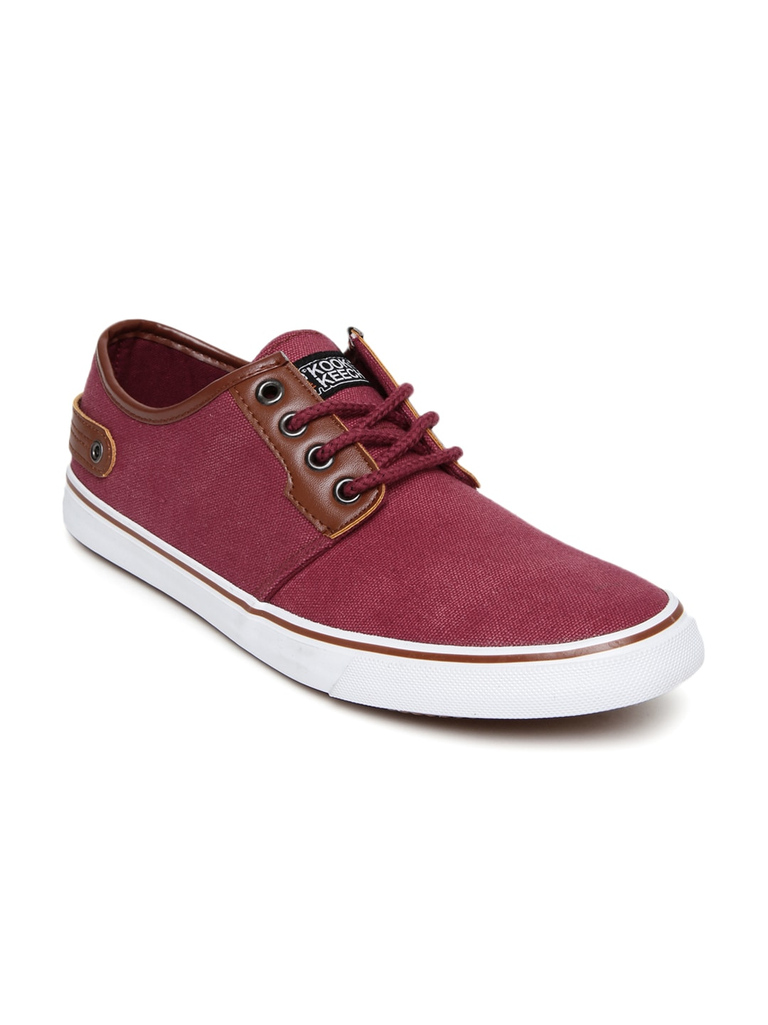 Buy Roadster Men Maroon Canvas Shoes - Casual Shoes for Men 1230411 ... 964521f12