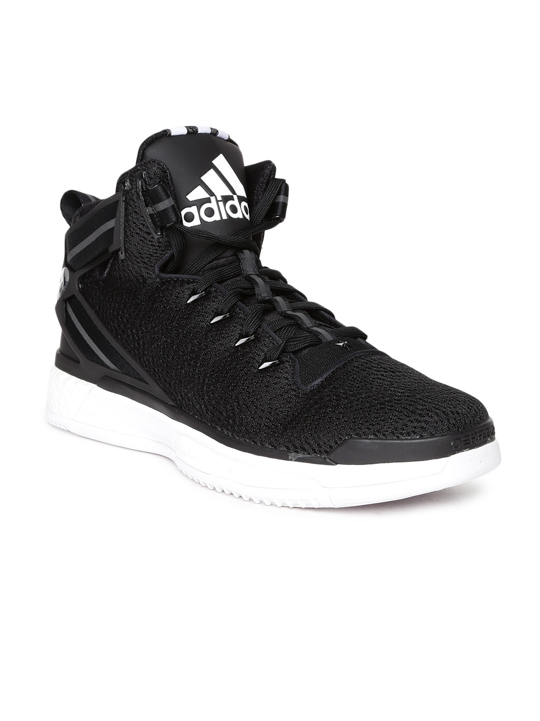 0a8a19d6b15e Adidas f37128 Men Black D Rose 6 Boost Basketball Shoes - Price in India