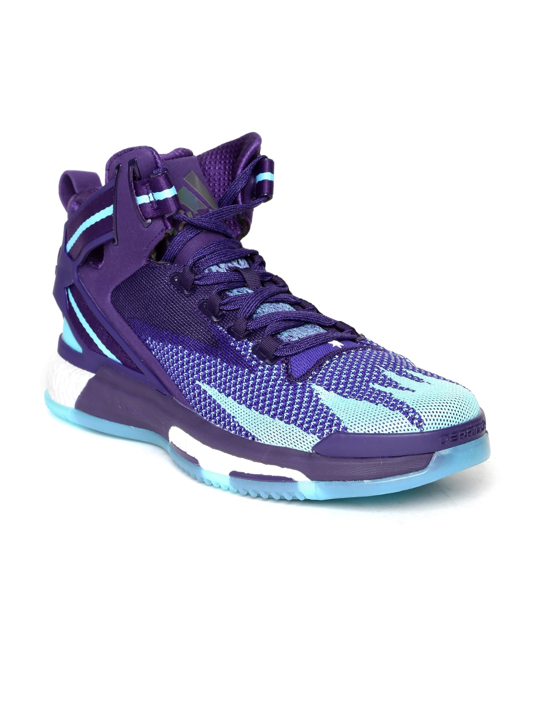 e3ce3cd93045 Adidas q16507 Men Purple D Rose 6 Boost Primeknit Glow In The Dark  Basketball Shoes - Price in India