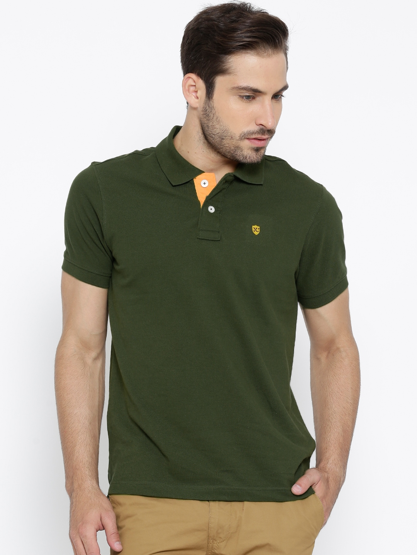 82974034e5 Numero uno nmfnhz707-military-green Olive Green Polo T Shirt- Price in India