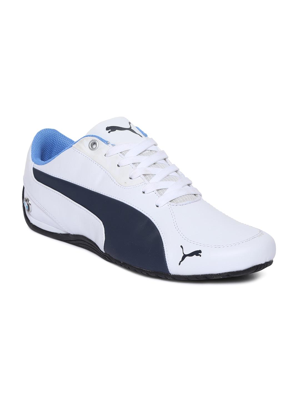 9c71b37da58f Puma 30564801 Men White Bmw Ms Drift Cat 5 Leather Casual Shoes- Price in  India