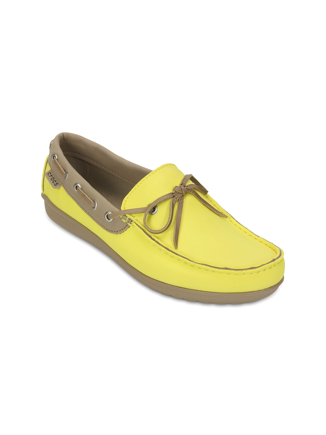 7f81ee4f9679 Buy Crocs Women Yellow Boat Shoes - Casual Shoes for Women 1258720 ...