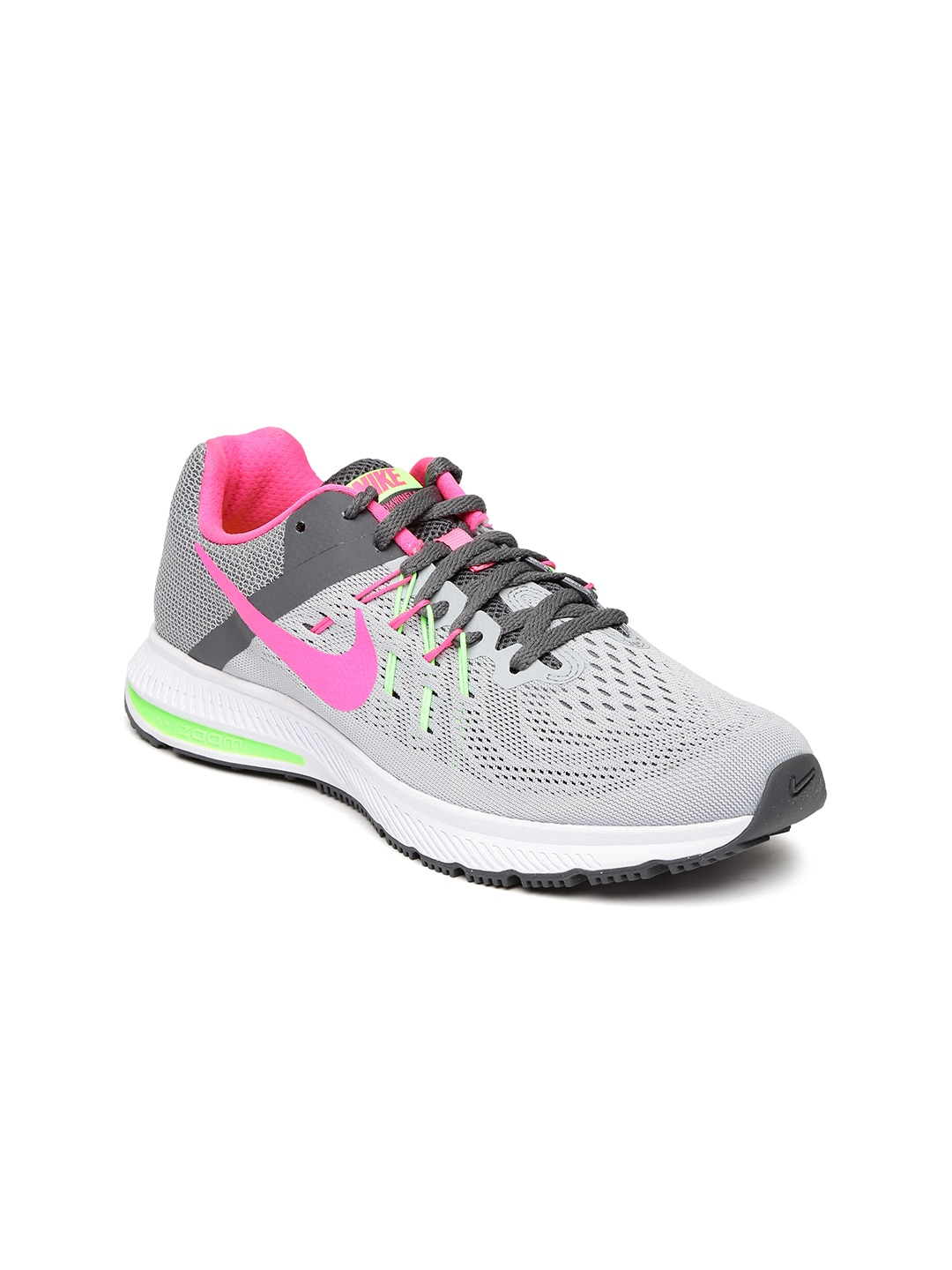 Nike 807279-007 Women Grey Zoom Winflo 2 Running Shoes- Price in India