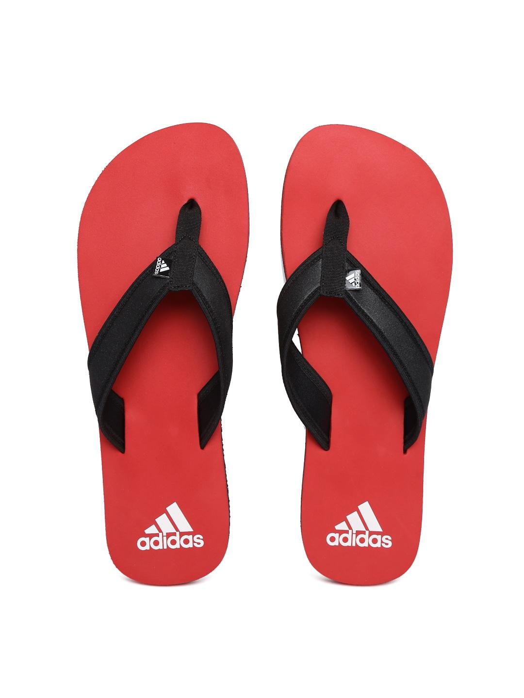 41a6825db1fba5 Adidas ba4885 Men Black And Red Adi Rio Attack Flip Flops- Price in India