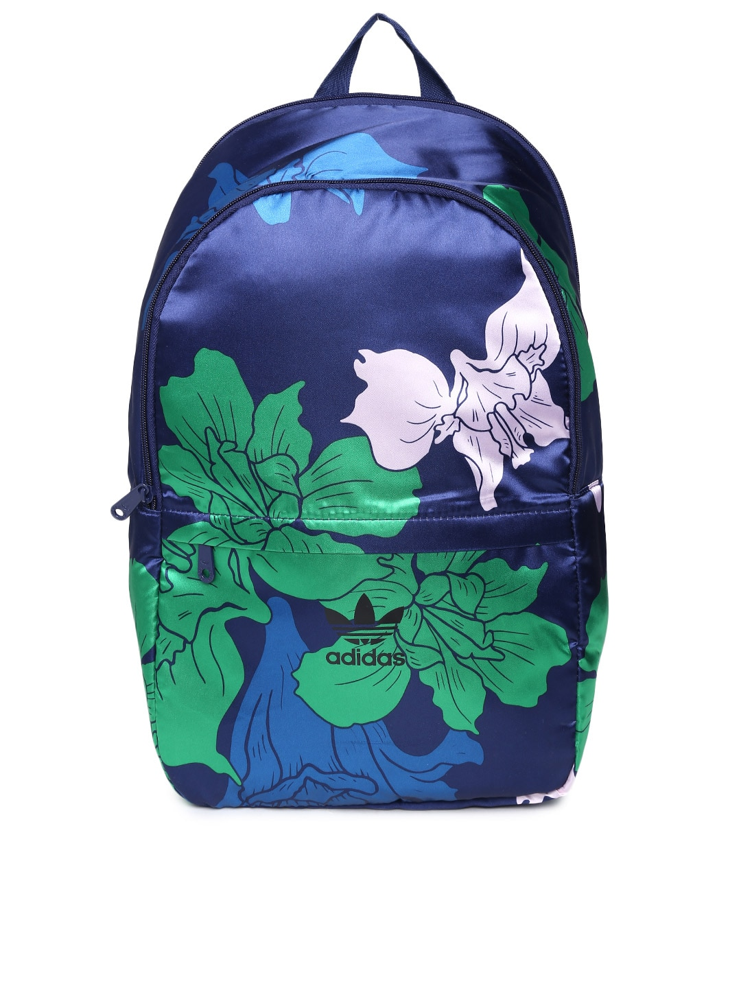 a485e92b2e6a ... Adidas az4064 Originals Women Navy And Green Printed Backpack- Price in  India the latest 201f9  Adidas originals floral ...