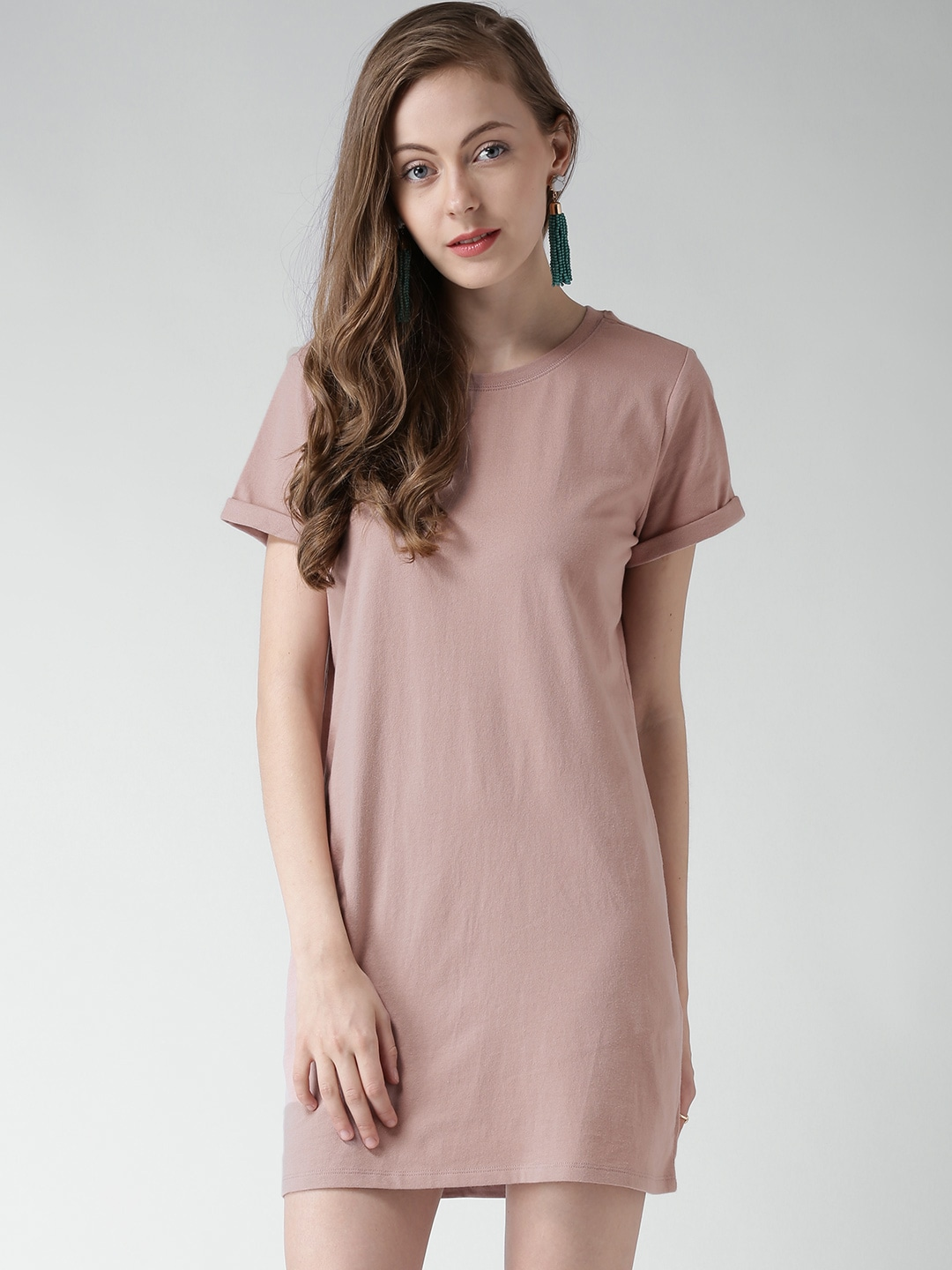 6fc659586c2 Forever 21 153567 Dusty Pink Shift Dress - Best Price in India
