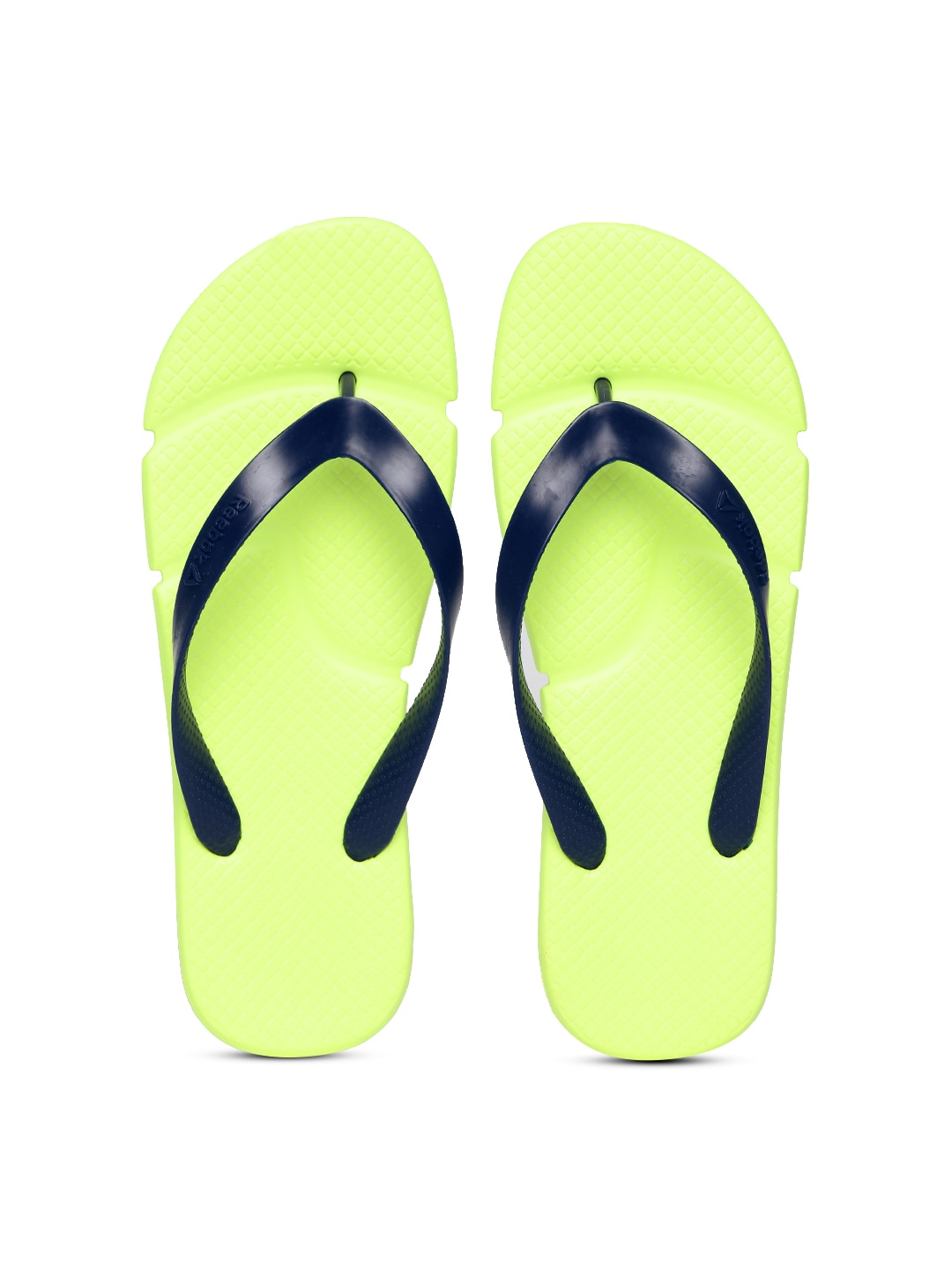 034d706e3 Reebok ar1624 Unisex Navy And Lime Green Fresco Textured Flip Flops- Price  in India