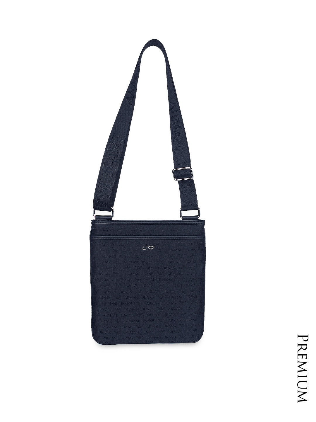 499c087f5d9e Armani jeans 7345-navy Navy Printed Sling Bag - Best Price in India ...
