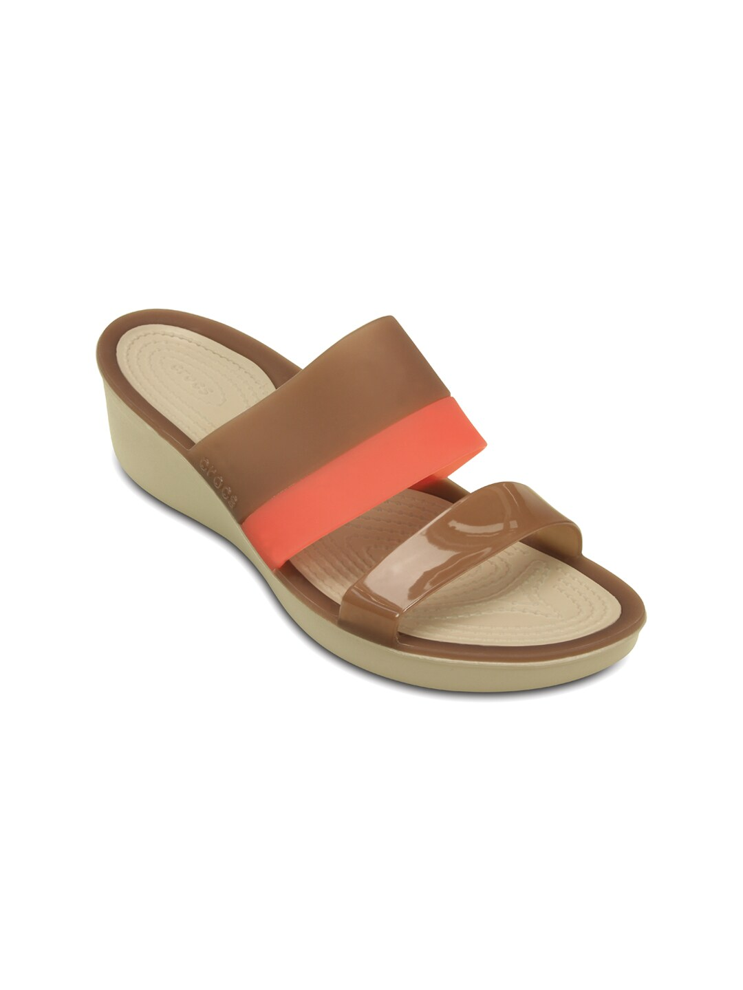 7b5e6bfbb45c Crocs 200031-854 Women Brown And Pink Wedges - Best Price in ...