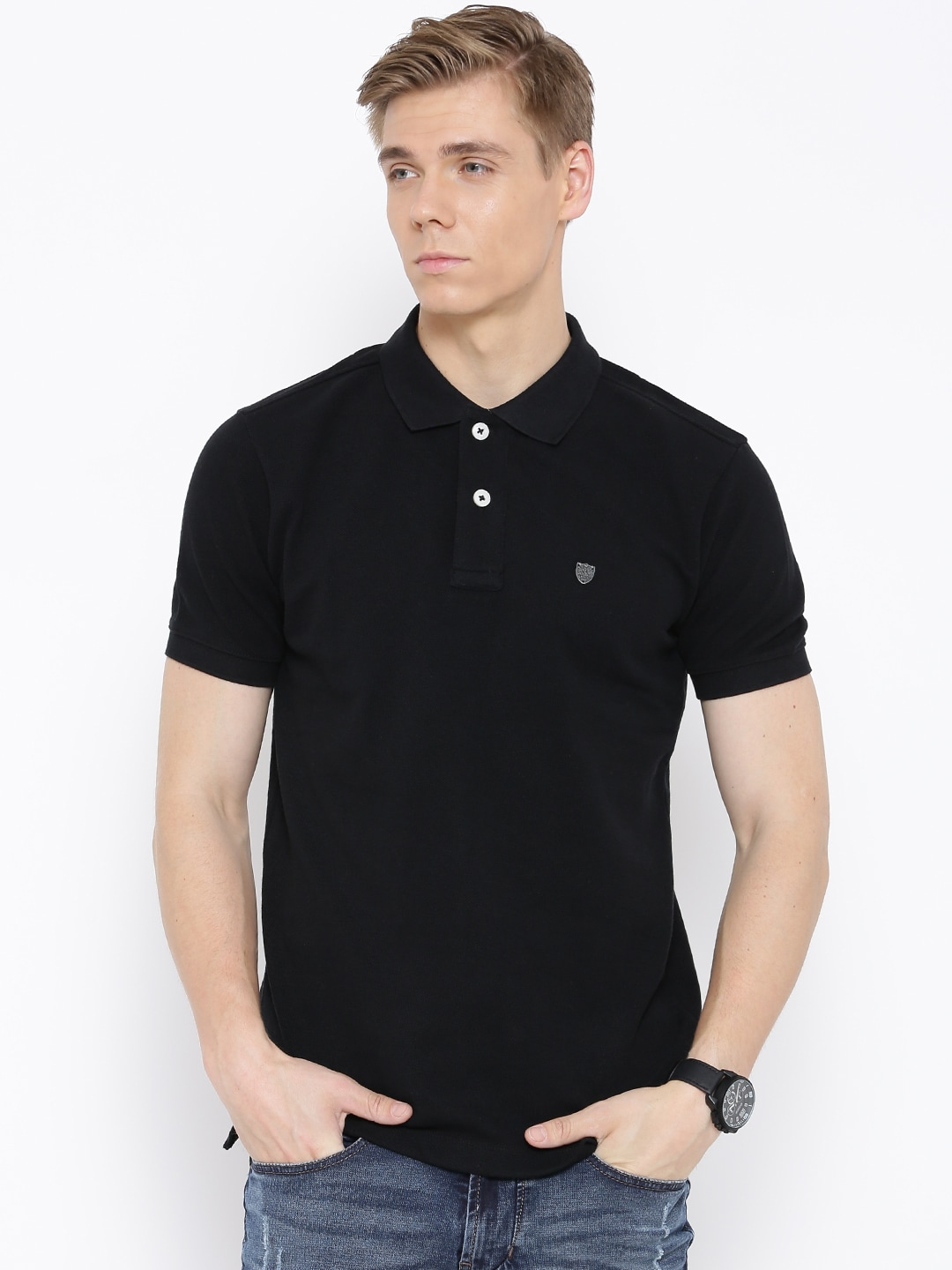 4ad92349 Numero uno nmfnhz621-black Black Polo T Shirt - Best Price in India ...