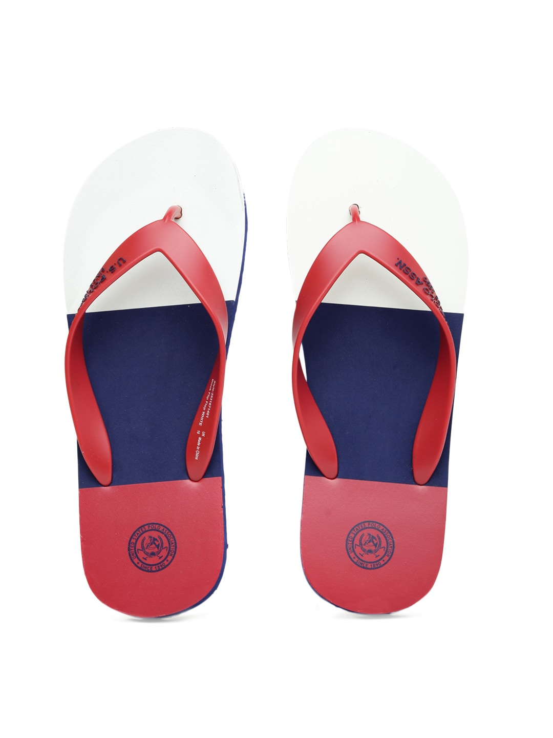 0510bcc66a2bf9 Us polo assn 2531671401 U S Polo Assn Men Red And White Flip Flops- Price  in India