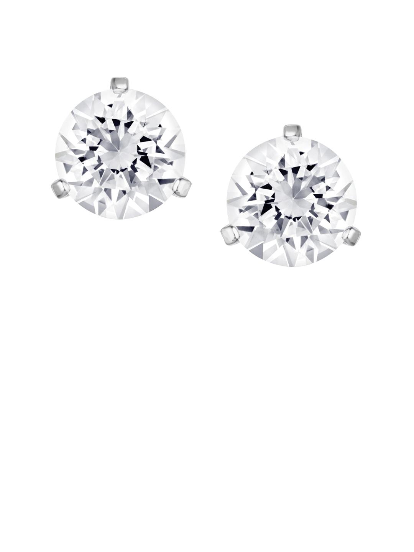 5747fa3b5 Swarovski 1800046-silver Solitaire Pierced Earrings - Best Price in ...