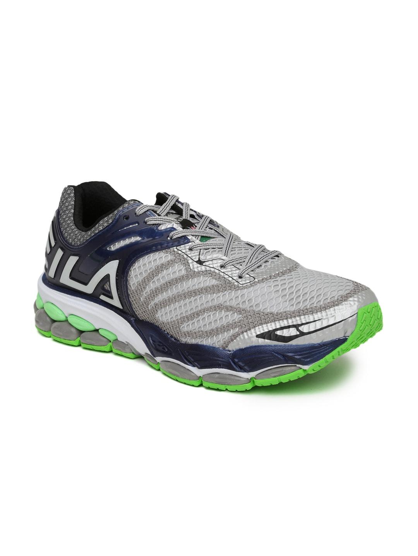 142bdf319845 Fila 11003868 Men Grey And Navy Ziwwi Running Shoes - Best Price ...